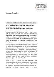 ELLWANGER & GEIGER ist auf der EXPO REAL in München vertreten