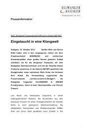 E&G: Stuttgarter Frauennetzwerk trifft sich - Ellwanger & Geiger