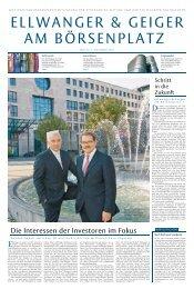 Sonderbeilage Stuttgarter Zeitung 09.11.2007 - Ellwanger & Geiger