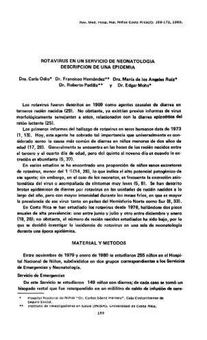 ROTAVIRUS EN UN SERVICIO DE NEONATOLOGIA ... - Binasss