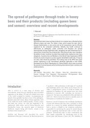 The spread of pathogens through trade in honey - COLOSS