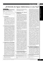 ¿El Derecho de Aguas Subterráneas es una Tasa? - Revista ...