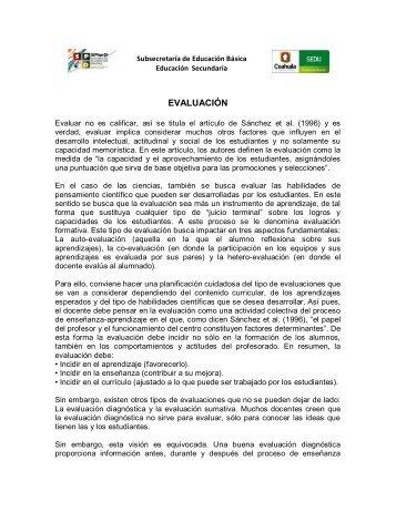 EVALUACIÓN - Secretaría de Educación Coahuila