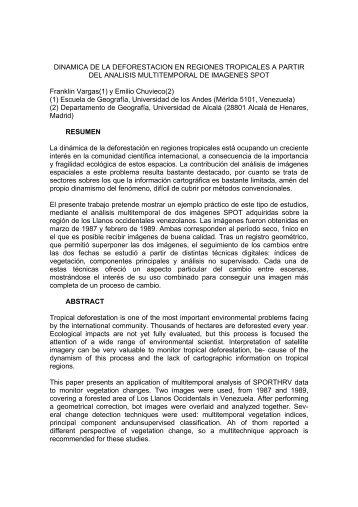 DINAMICA DE LA DEFORESTACION EN REGIONES TROPICALES ...
