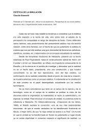 1 ESTÉTICA DE LA SIMULACIÓN Claudia Giannetti Cada vez se ...
