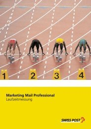 Marketing Mail Professional Laufzeitmessung - Adress Control GmbH