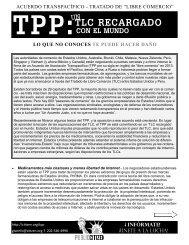 TPP: TLC RECARGADO CON EL MUNDO UN - Public Citizen