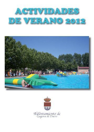 actividades de verano 2012 - Ayuntamiento de Laguna de Duero
