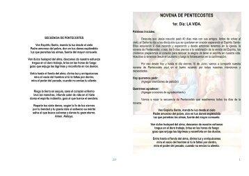 NOVENA DE PENTECOSTES - Parroquia San Cayetano