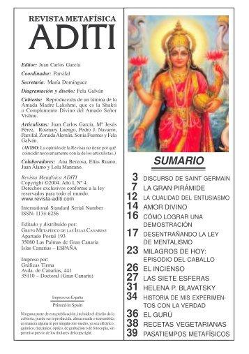 Revista ADITI Nº I-4 En.2004 - JUAN CARLOS GARCIA