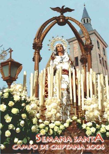 Programa de Semana Santa 2006. - Semana Santa en Campo de ...