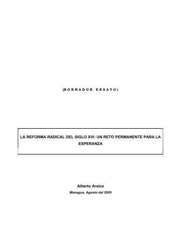 LA REFORMA RADICAL DEL SIGLO XVI - Casa Giordano Bruno
