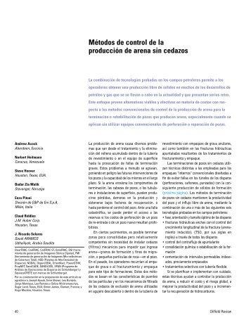 Métodos de control de la producción de arena sin ... - Schlumberger