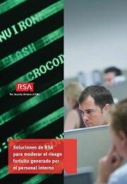 Soluciones de RSA para moderar el riesgo fortuito generado por el ...