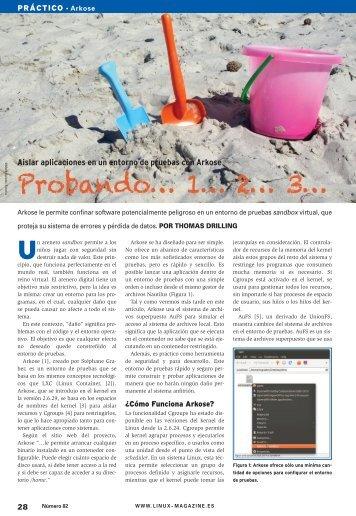 Probando... 1... 2... 3...: [PDF, 1195 kB] - Linux Magazine