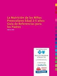La Nutrición de los Niños Preescolares Edad 2-5 años: Guía ... - KCPT
