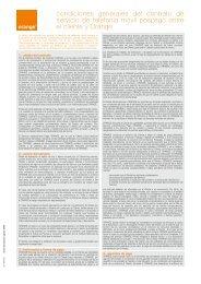 Condiciones Generales de la Contratación - Orange