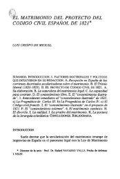 el matrimonio del proyecto del codigo civil español de 1821