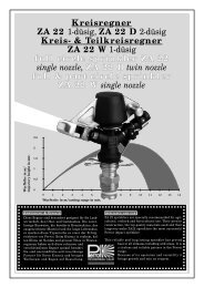 Kreisregner ZA 22 1-düsig, ZA 22 D 2-düsig Kreis ... - Proehl-gmbh.de