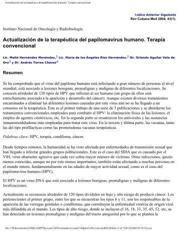 Actualización de la terapéutica del ... - SciELO - Infomed