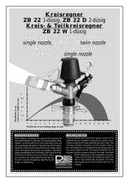 Kreisregner ZB 22 1-düsig, ZB 22 D 2-düsig Kreis ... - Proehl-gmbh.de