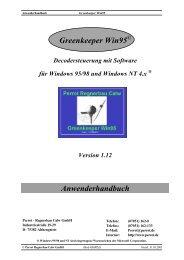 Greenkeeper Win95 Anwenderhandbuch - Proehl-gmbh.de