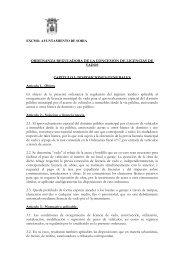 ORDENANZA REGULADORA DE LA CONCESIÓN DE LICENCIAS ...