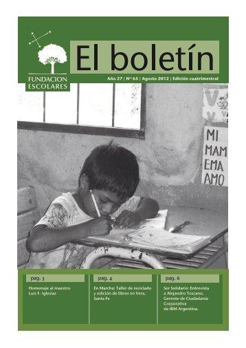 pag. 3 pag. 4 pag. 6 - Fundación Escolares