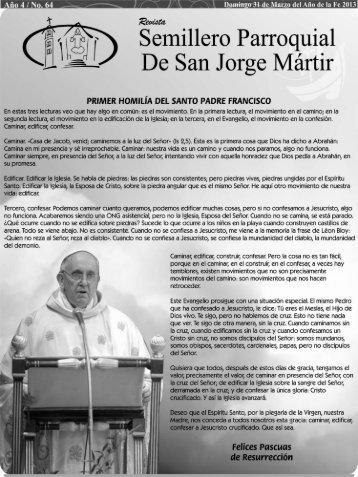 Semillero # 64 - Parroquia San Jorge Mártir