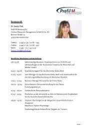 Beraterprofil - Profil M