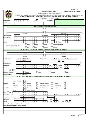 Formulario Único de Reclamaciones-FURPEN - Fasecolda