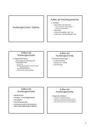 Krankengeschichte / Epikrise Aufbau der ... - progenie.de