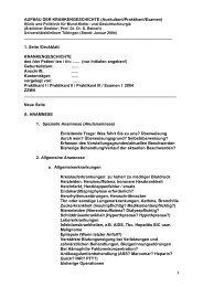 1 AUFBAU DER KRANKENGESCHICHTE (Auskultant ... - progenie.de