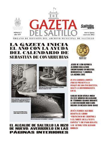 gazeta enero 2012.pmd - Archivo Municipal de Saltillo