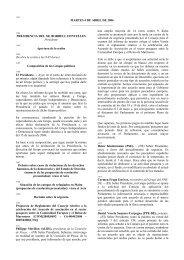 MARTES 4 DE ABRIL DE 2006 PRESIDENCIA DEL SR ... - Europa
