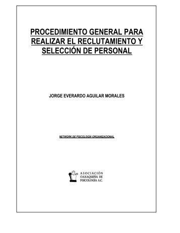 Procedimiento de reclutamiento y selección de ... - Conductitlan
