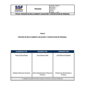 Reclutamiento Seleccion Contratacion E Induccion De Personal En