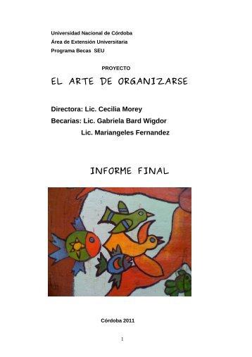 EL ARTE DE ORGANIZARSE INFORME FINAL - Sistema de ...