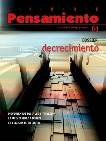 Descargar Libre Pensamiento 61 - Primavera 2009 ... - Rojo y Negro