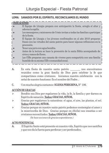 Liturgia Especial - Fiesta Patronal - Diócesis de Chulucanas