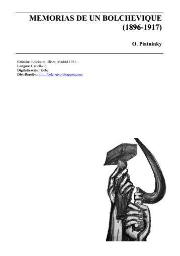 Piatnisky - Memorias de un bolchevique - Marxists Internet Archive