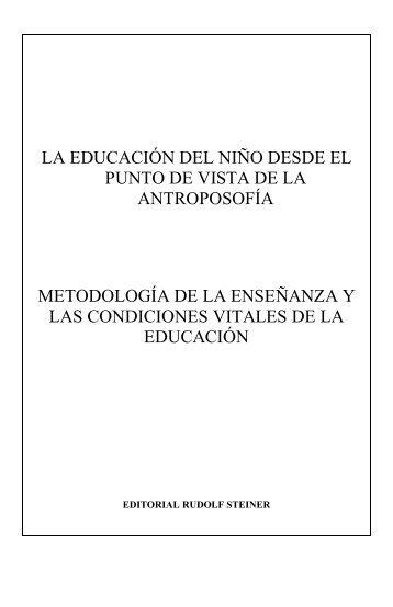 La educación del niño desde el punto de vista de la antroposofía