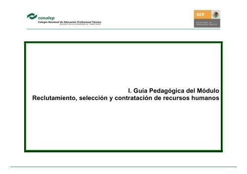 Guias Reclutamiento Seleccion Recursos Humanos Portal Conalep