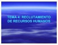 tema 4: reclutamiento de recursos humanos - Apuntes ADE