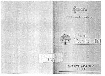 Premio Kaelin: trabajos ganadores 1997. - EsSalud