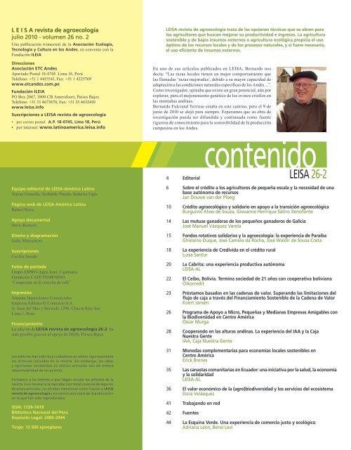 Descarga pdf - LEISA