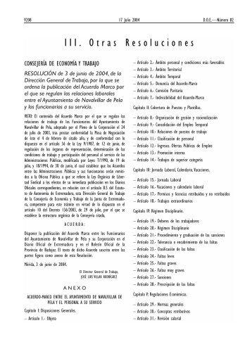 III. Otras Resoluciones - Diario Oficial de Extremadura