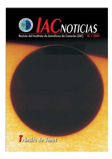 IAC Noticias N. 1-2004 - Instituto de Astrofísica de Canarias