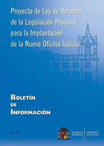 Proyecto de Ley de Reforma de la Legislación Procesal para la ...