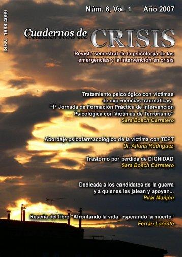Num 6 - Vol 1 - 2007 - Cuadernos de Crisis
